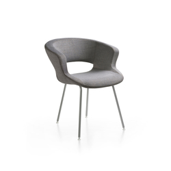 Zed 4 legs upholstered | Restaurant chairs | Maxdesign