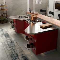 Skyline 2.0 rosso bourgogne | Fitted kitchens | Snaidero