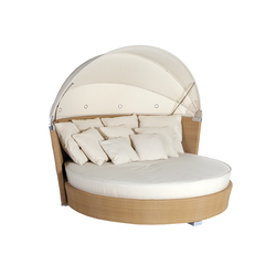 sitzinseln liegeinseln liegest hle garten lounge romantic sonnenliege mit schirm point. Black Bedroom Furniture Sets. Home Design Ideas