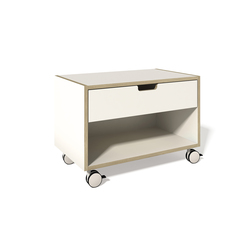 Stacking bed bedside table CPL white | Night stands | Müller Möbelwerkstätten