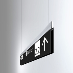 Signage System Messe Basel by BURRI – Ceiling sign | Media displays | BURRI