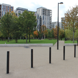 Public Bollard fixed barrier post – Uni & Millenium | Bollards | BURRI