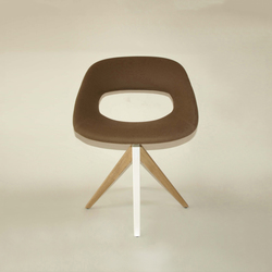 Diagonal Cross Legs Chair | Visitors chairs / Side chairs | dutchglobe