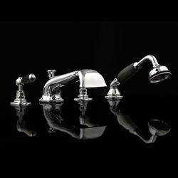 Black Dandy 4 hole bath set | Bath taps | Devon&Devon