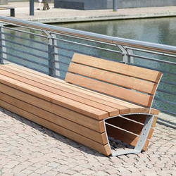 Cado corpus Bench with partial backrest | Benches | Westeifel Werke