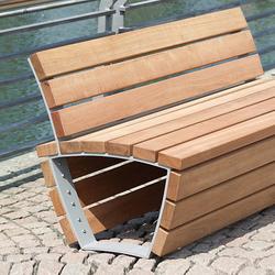 Cado corpus Bench with partial backrest | Exterior benches | Westeifel Werke