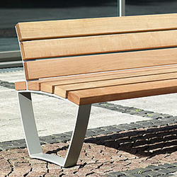 Cado levis Bench short 1,55 m with backrest | Bancos | Westeifel Werke