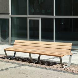 Cado levis Bench 3 m with backrest | Bancos de exterior | Westeifel Werke
