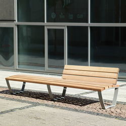 Cado Levis Bench 3m With Partial Backrest | Exterior Benches | Westeifel  Werke