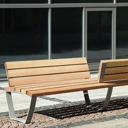 Cado levis Bench 3m with opposite partial backrest | Bancos | Westeifel Werke