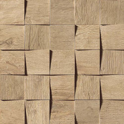 Axi Golden Oak Mosaico 3D | Ceramic tiles | Atlas Concorde