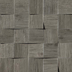 Axi Grey Timber Mosaico 3D | Carrelage céramique | Atlas Concorde