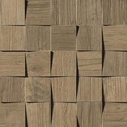 Axi Brown Chestnut Mosaico 3D | Ceramic tiles | Atlas Concorde