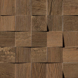 Axi Dark Oak Mosaico 3D | Ceramic tiles | Atlas Concorde