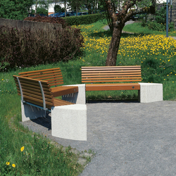 Gala Polygonal Bench 3 elements | Bancos | Westeifel Werke