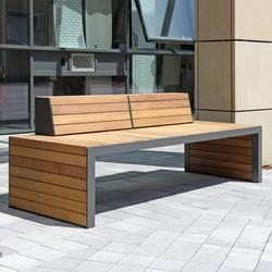 Linares Bench 200 depth 80 cm | Exterior benches | Westeifel Werke