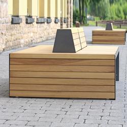 Linares Bench 200 depth 120 cm | Exterior benches | Westeifel Werke