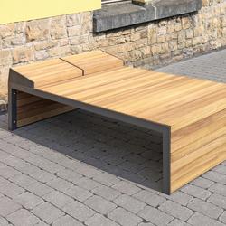 Linares Double Sun bed 200 depth 120 cm | Bancos | Westeifel Werke