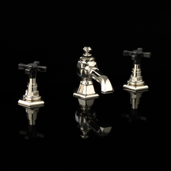 Jubilee Black Cross 3 hole bidet set | Bidet taps | Devon&Devon