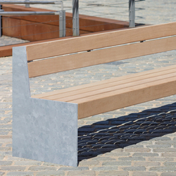 Versio genus Bench with seat MEDIUM | Exterior benches | Westeifel Werke