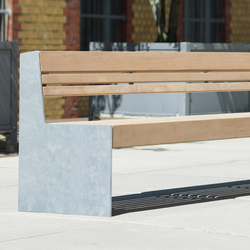 Versio genus Bench with seat SMALL | Exterior benches | Westeifel Werke