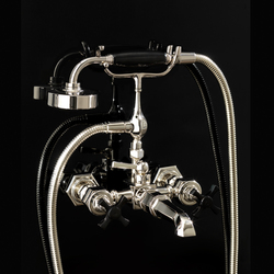Jubilee Black Cross Bath shower mixer | Bath taps | Devon&Devon
