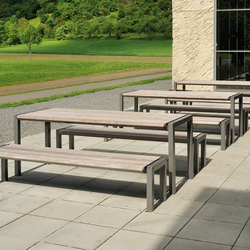 Comfony 90 table exterior tables from benkert baenke architonic - Table exterieur ronde ...