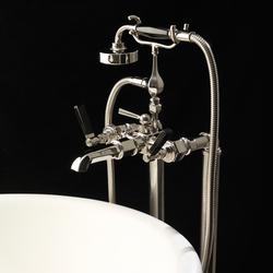 Jubilee Black Lever Bodenbeine für Badewannensatz | Badewannenarmaturen | Devon&Devon
