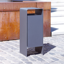 Versio corpus Litter bin 50 L with ashtray | Pattumiere | Westeifel Werke