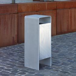Versio corpus Litter bin, galvanized, 50 L incl. ashtray | Exterior bins | Westeifel Werke