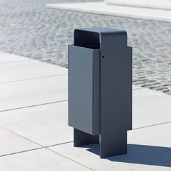 Versio levis Litter bin 50 L incl. ashtray | Waste baskets | Westeifel Werke