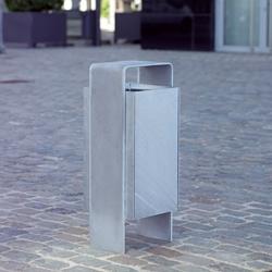 Versio levis Litter bin, galvanized, 50 L incl. ashtray | Exterior bins | Westeifel Werke