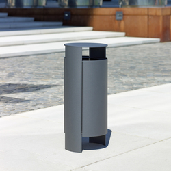 Versio orbis Litter bin 40 L incl. ashtray | Exterior bins | Westeifel Werke