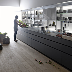 New Logica System Vitrum | Cemento | Fitted kitchens | Valcucine