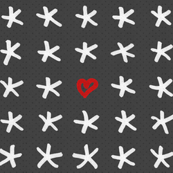 STARS & HEARTS | Carta parati / tappezzeria | Wall&decò