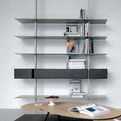 System sy09 office shelving systems from extendo for Etagere suspendue cable plafond
