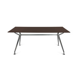 W-Table Work Chocolate Brown | Bureaux individuels | Wagner