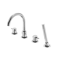 100 2400 4-hole deck mounted bath mixer | Bath taps | Steinberg