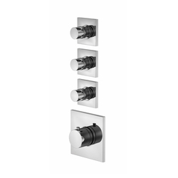 "120 4330 Concealed thermostatic mixer 3/4"" including finish set 
