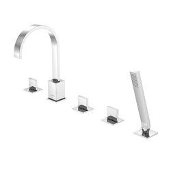 135 2421 5-hole deck mounted bath|shower mixer | Bath taps | Steinberg