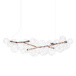 Long Bubble Chandelier | Iluminación general | PELLE