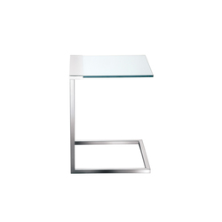 Beistelltisch glas edelstahl  BEISTELLTISCHE MIT TISCHPLATTE AUS GLAS - Hochwertige Designer ...