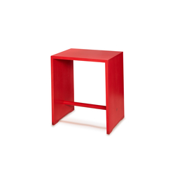 Bill | Ulmer Stool birch | fire red | Mesillas de noche | wb form ag
