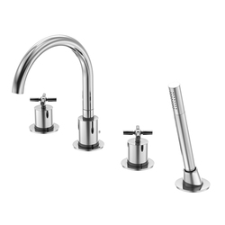 250 2400 4-hole deck mounted bath|shower mixer | Bath taps | Steinberg