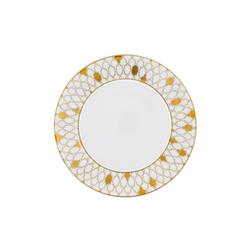 AURÉOLE DORÉE Breakfast plate | Dinnerware | FÜRSTENBERG