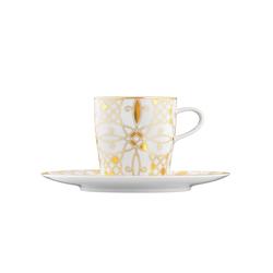AURÉOLE DORÉE Coffee cup, saucer | Dinnerware | FÜRSTENBERG