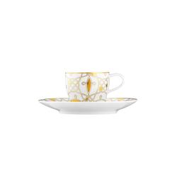AURÉOLE DORÉE Espresso cup, saucer | Dinnerware | FÜRSTENBERG