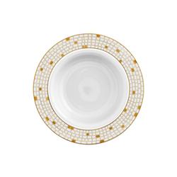 AURÉOLE DORÉE Pasta plate | Dinnerware | FÜRSTENBERG