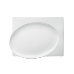 BLANC Plate square | Services de table | FÜRSTENBERG