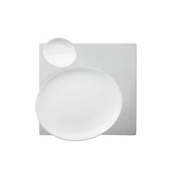 BLANC Plate square | Dinnerware | FÜRSTENBERG